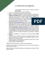 Implementación de Un Sistema Móvil en Una Página Web
