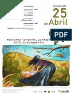 Poster Comemorações 25 abril