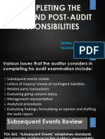 Completing the Audit Cycle