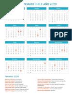 Calendario Chile 2020 Con Feriados