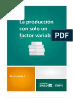 La Produccion Con Un Solo Factor Variable