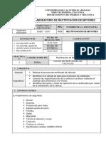 Informe Rectificado de Valvulas COMEC RV 516 ESPE