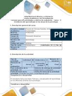 Guiìa de Actividades y Rubrica de Evaluacioìn – Tarea - 3 Incidencia Del Aprendizaje en Las Aìreas de La Psicologiìa .