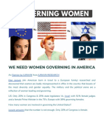 We Need More Governing Women in America - Don Karl Juravin Reviews
