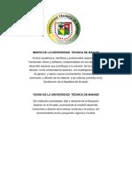Misiones y Visiones Del Folder