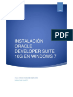 Para Instalar Oracle Developer Suite 10g en Windows 7