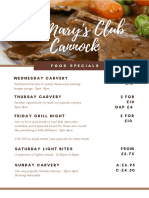 St Mary's Club Food Specials