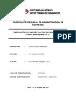 """Formulación de Planes Estratégicos Para La Empresa """"Grupo Bustamante SAC"""