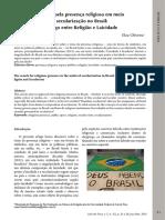 OLIVEIRA, Elza - A busca pela presença religiosa em meio à secularização no Brasil. Diálogo entre religião e laicidade.pdf
