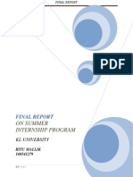 Final Report on Digital Marketing Internship