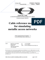 Cable reference models for simulating metallic access networks