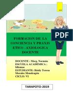 FORMACION DE LA CONCIENCIA Y PERFIL ETICO DEL DOCENTE