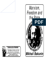 Mikhail Bakunin Marxism Freedom the State