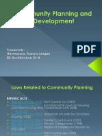 Community Planning and Development