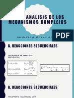 Análisis de mecanismos complejos en enzimas