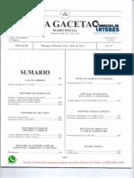 Decreto Presidencial No. 3-2018 Reforma Al Reglamento General Del INSS