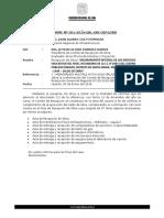 INFORME N° 001 - 2019  RECEPCION PARAISO