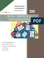 Enfoque y Principios de La Planificación Educativa