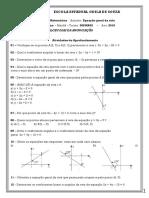 2019 - Exercicios de Equação Geral Da Reta