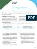 271190 Bilingual Learners and Bilingual Education