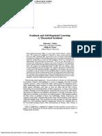 Feedback and Selfregulated Learninga Theoretcial Synthesis