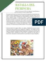 La batalla de Pichincha ocurrió el 24 de mayo de 1822 en las faldas del volcán Pichincha.docx