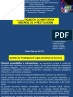 INVESTIGACIÓN CUANTITATIVA DISEÑOS DE INVESTIGACIÓN
