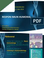 Rev. 2018 Humoral Immune Responses