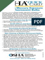 Avoiding Mercury Exposure From Fluorescent Bulbs