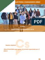 Programa electoral Cs Xàbia