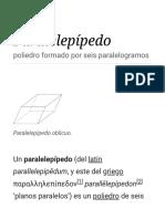 Paralelepípedo - Wikipedia, La Enciclopedia Libre