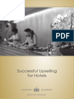 Succesfull Upselling in Hotels