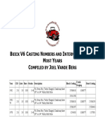 Buick v 6 Casting Numbers and Internal Specs