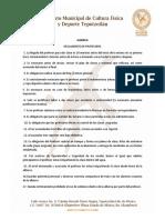 Reglamento de Profesores Albercas