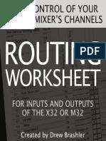 X32 Routing Worksheet