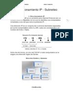 Direccionamiento IP Y SUBNETEO