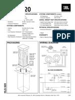 Jbl Hls-820 250w Speaker System Sm