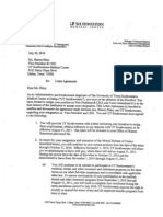 UT Southwestern and Sharon Riley Letter Agreement and Mutual Release of Claims