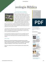 Arqueologia - Apoio Aula EBD