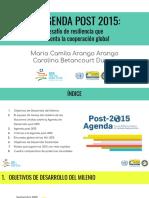 9.La Agenda Post 2015_ Desafío de Resiliencia Que Reorienta La Cooperación Global