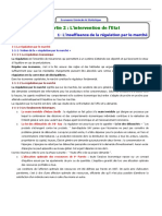 1- L Insuffisance de La Régumlation Par Le Marché