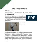 Evaluación Eficacia Vitrina de Laboratorio