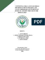 Mini Research Contextual Oral Language Skills