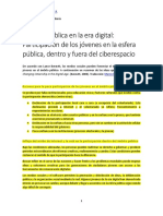 Internet y participación en el ámbito público