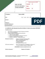 Formulaire Demande Prêt 18-19