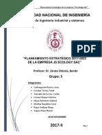 Planeamiento y Dirección Estratégica-estudio a Empresa JS ECOLOGIC