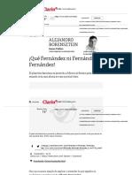 ¡Qué Fernández ni Fernández, Fernández! - 18_05_2019 - Clarín.com