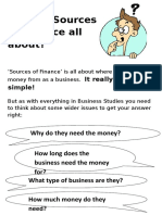 What is Sources of Finance All About