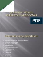 Dokumen Teknis Peralatan Kesehatan