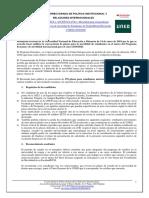 convocatoria Erasmus 2019 - 2020